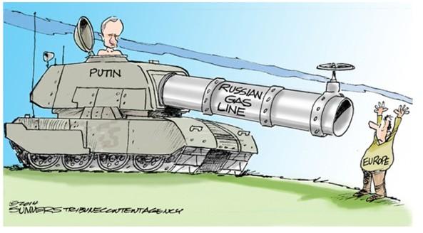 Et oui la Russie fournit 44% de notre gaz européen, vaudrait mieux pas que Poutine ferme le robinet !